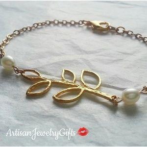 16K Gold Branch Freshwater Pearl Bracelet